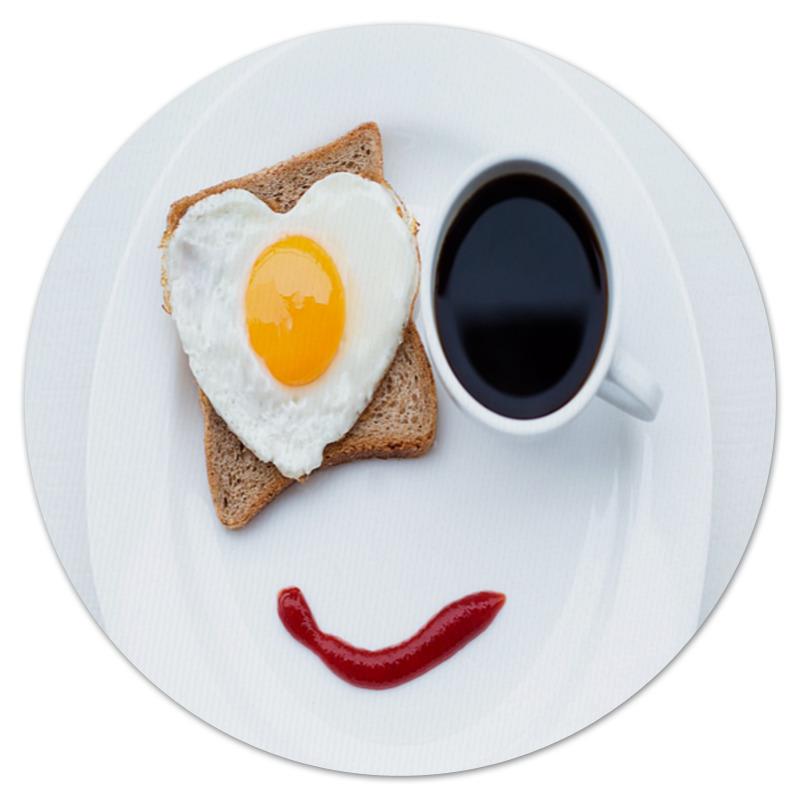 Коврик для мышки (круглый) Printio Завтрак