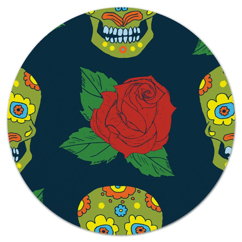 Printio Череп и цветок коврик для мышки printio череп и роза