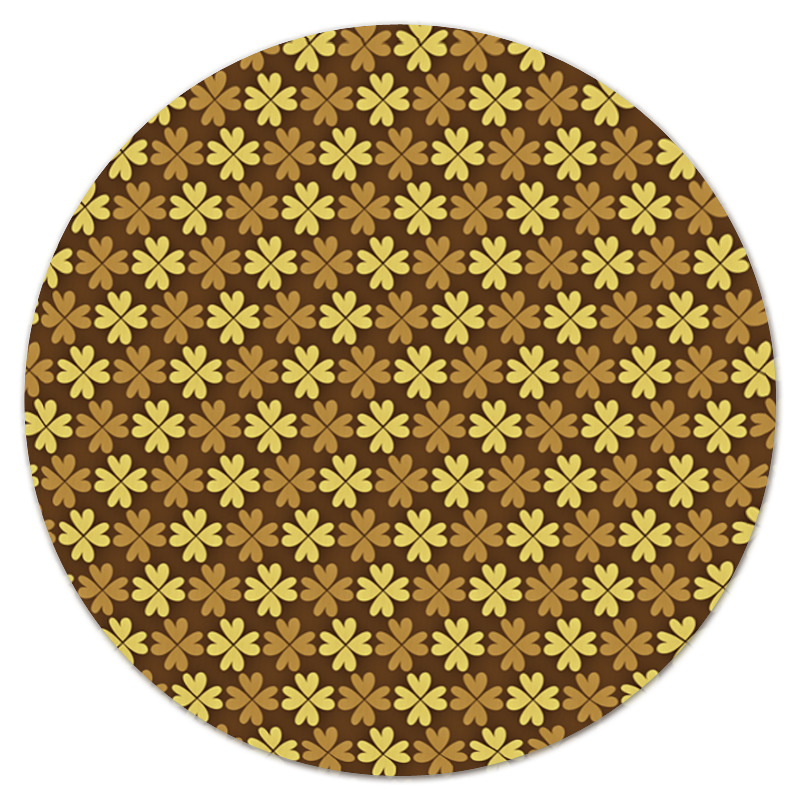 Коврик для мышки (круглый) Printio Листы клевера листы латуни
