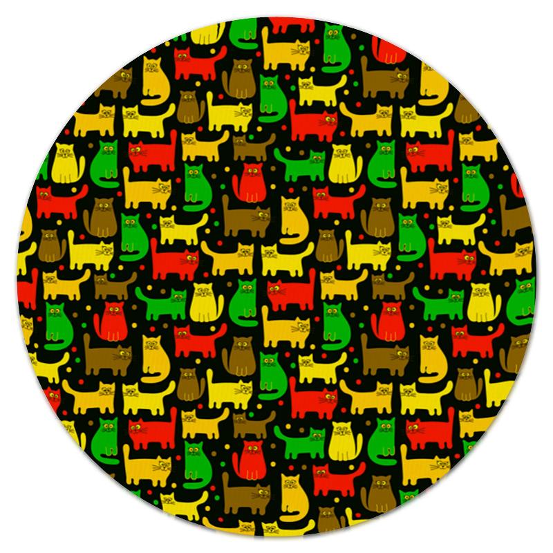 Printio Цветные котята коврик для мышки круглый printio котята