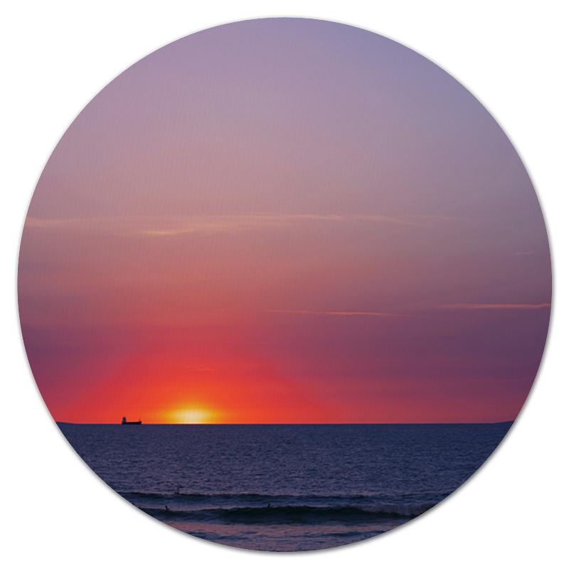 Коврик для мышки (круглый) Printio Закат у моря город у моря