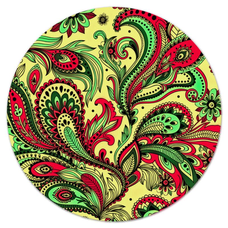 Коврик для мышки (круглый) Printio Роспись коврик для мышки круглый printio цветочная роспись