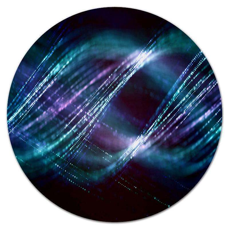 Коврик для мышки (круглый) Printio Красочные вспышки