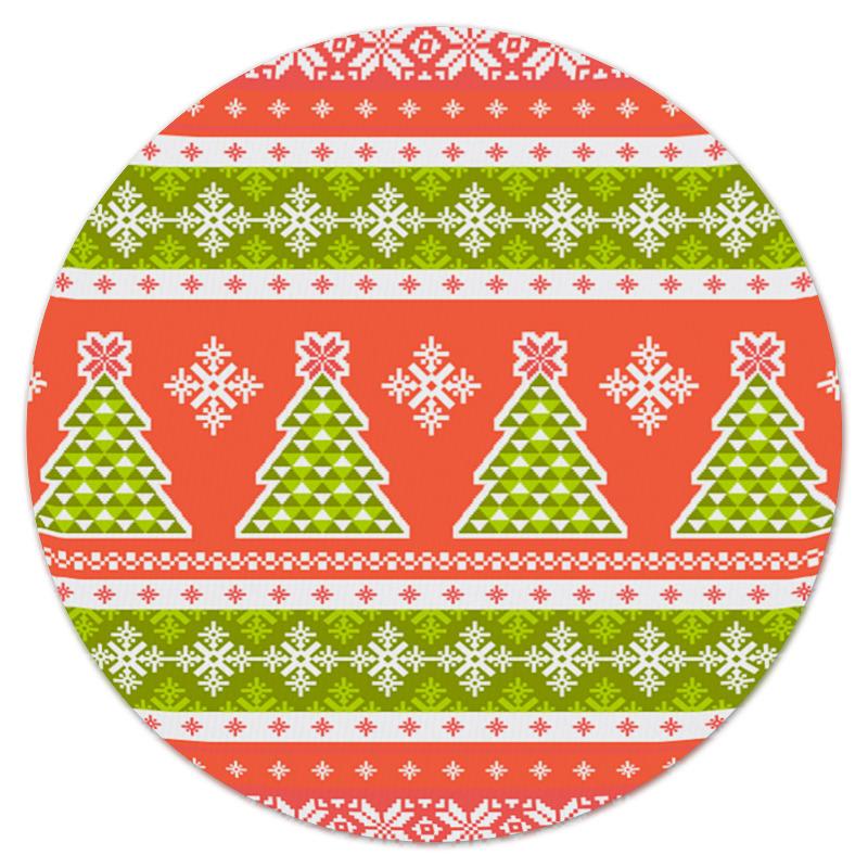 Коврик для мышки (круглый) Printio Новогодний орнамент коврик для мышки круглый printio орнамент