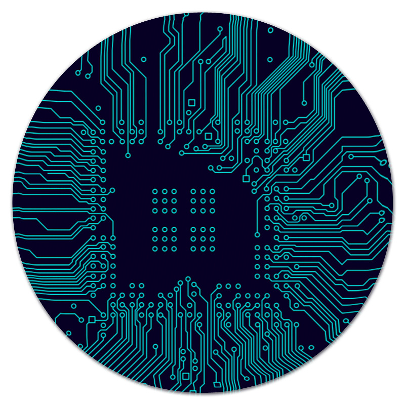 Коврик для мышки (круглый) Printio Плата плата коммуникационная hp parallel port adapter dc5800 5850 dc7900cmt