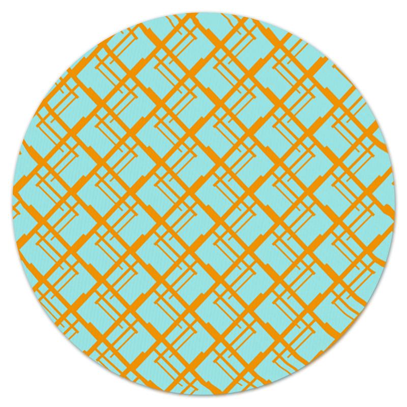 Коврик для мышки (круглый) Printio Оранжевая клетка
