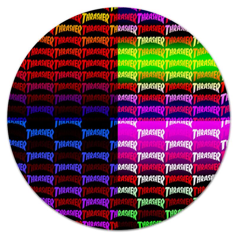 Коврик для мышки (круглый) Printio Thrasher коврик для мышки круглый printio hkkknmnm200056