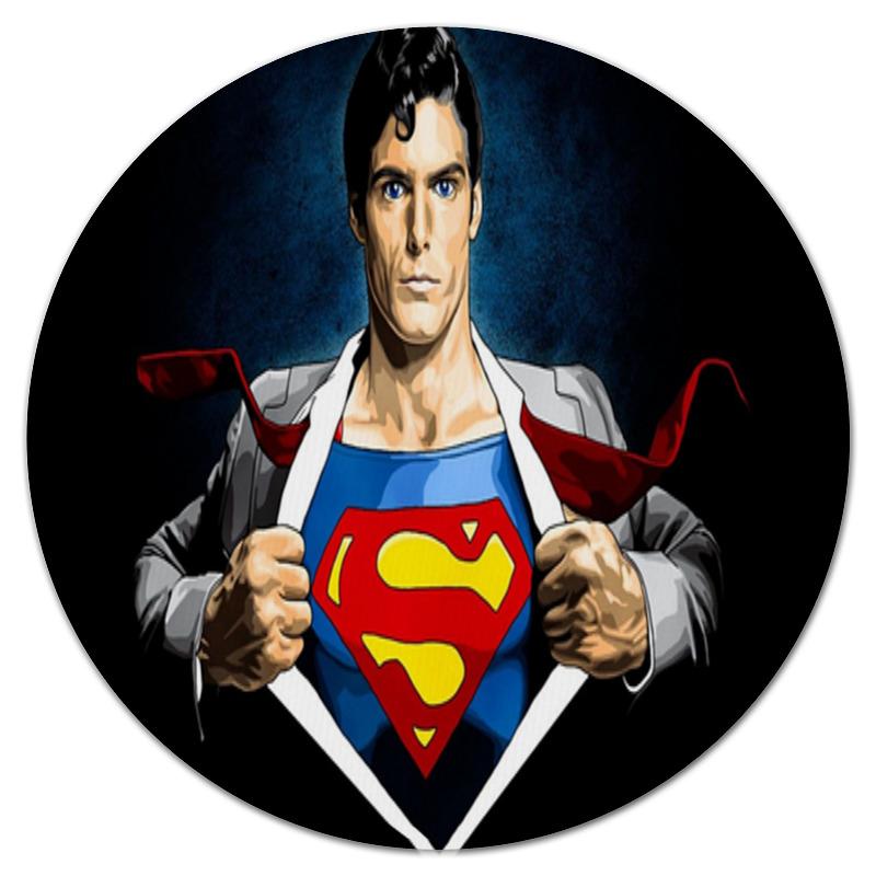 Коврик для мышки (круглый) Printio Супергерой