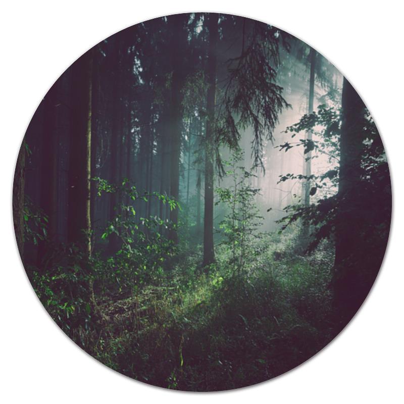 Коврик для мышки (круглый) Printio Природа леса