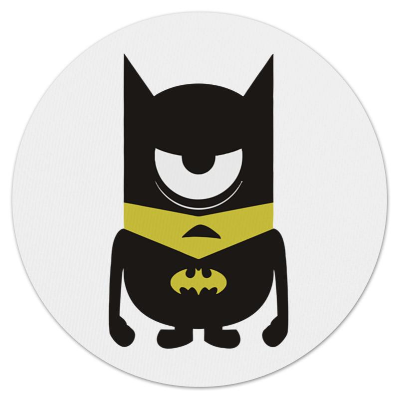 Коврик для мышки (круглый) Printio Minion batman
