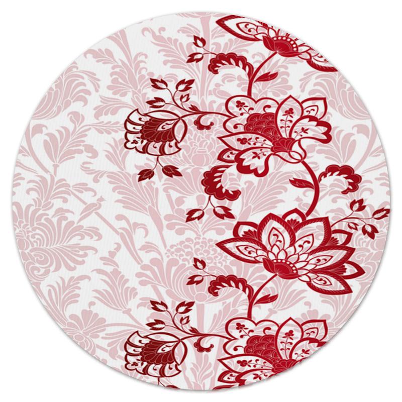 Фото - Printio Красные цветочки коврик для мышки круглый printio цветочки