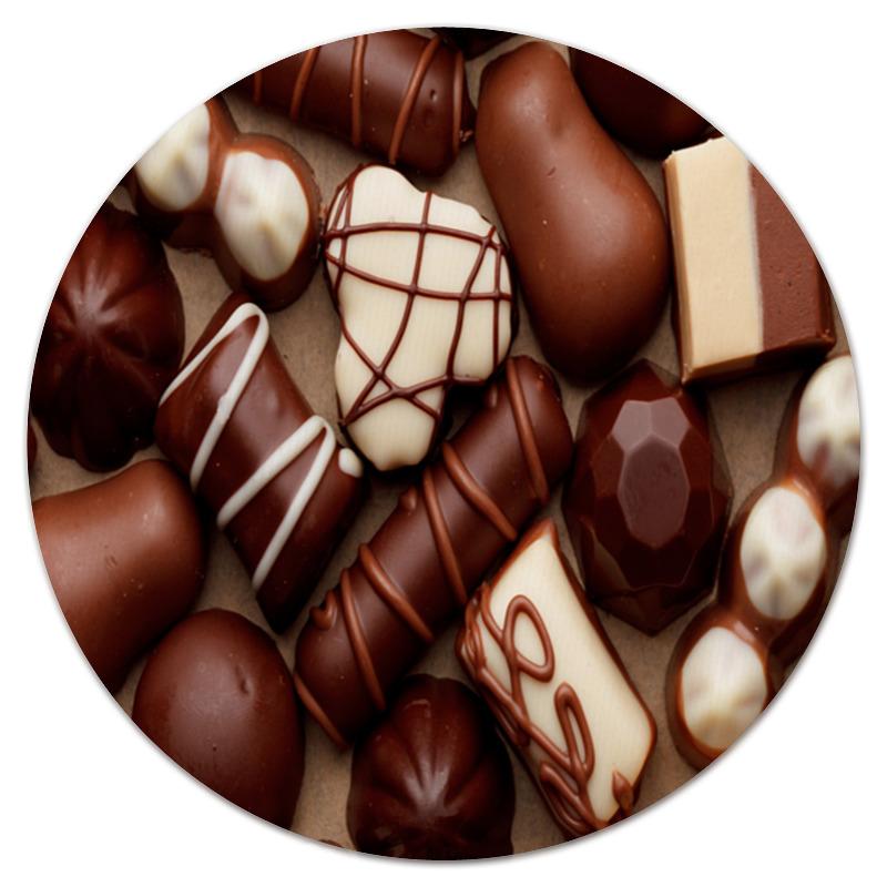 Коврик для мышки (круглый) Printio Шоколад