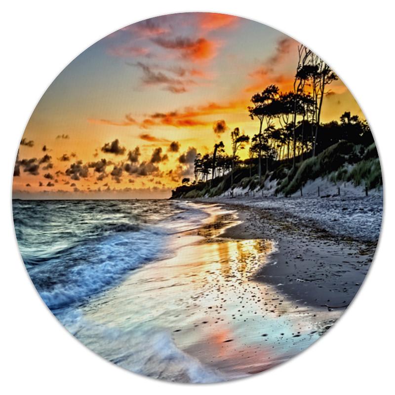 Коврик для мышки (круглый) Printio Остров максим теплый остров сердце