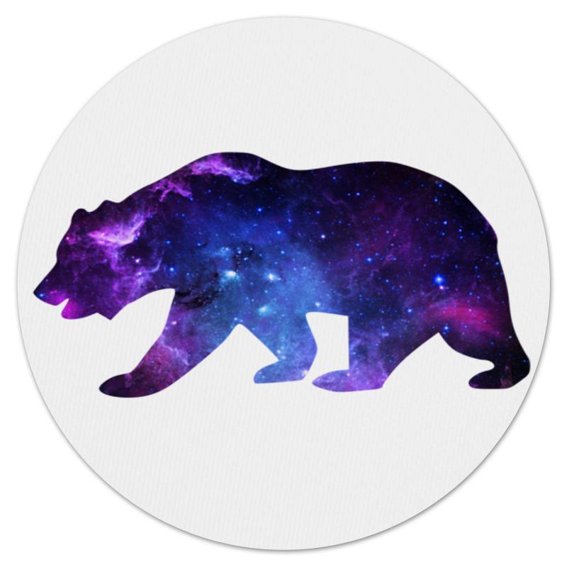Коврик для мышки (круглый) Printio Space animals цена 2017