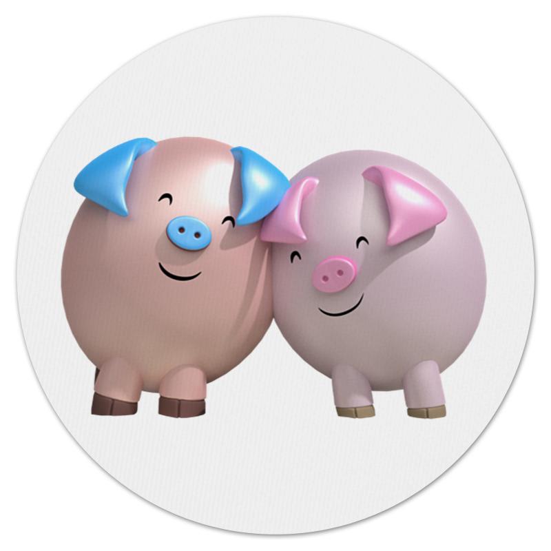 Коврик для мышки (круглый) Printio Два влюблённых поросёнка баллады для влюблённых 2015