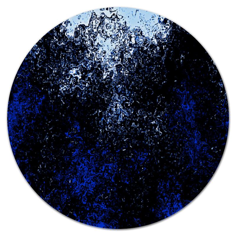 Коврик для мышки (круглый) Printio Черно-синие брызги