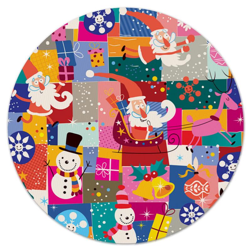 Коврик для мышки (круглый) Printio Санта и подарки сумка printio подарки