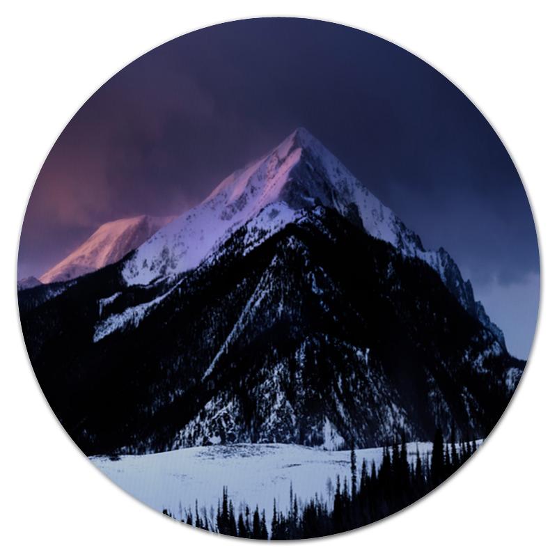 Коврик для мышки (круглый) Printio Снежная гора цена
