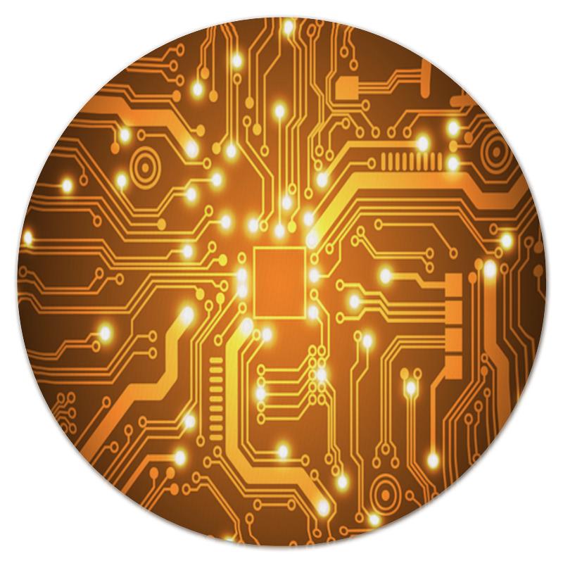 Коврик для мышки (круглый) Printio Золотая плата золотая семечка масло золотая семечка подсолнечное раф дез 0 5л