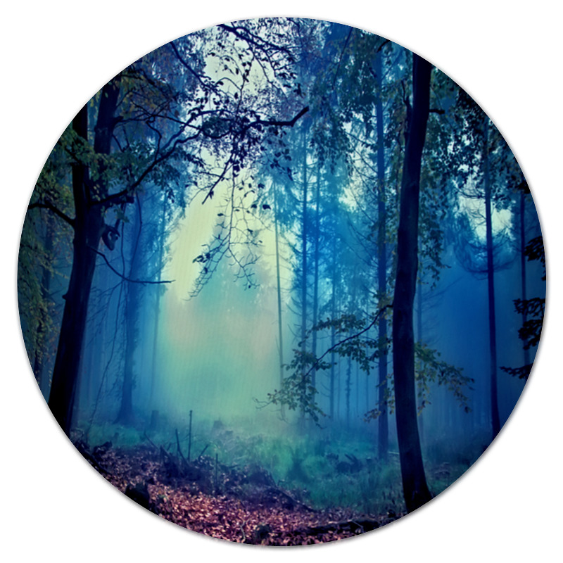 Коврик для мышки (круглый) Printio Сумрачный лес