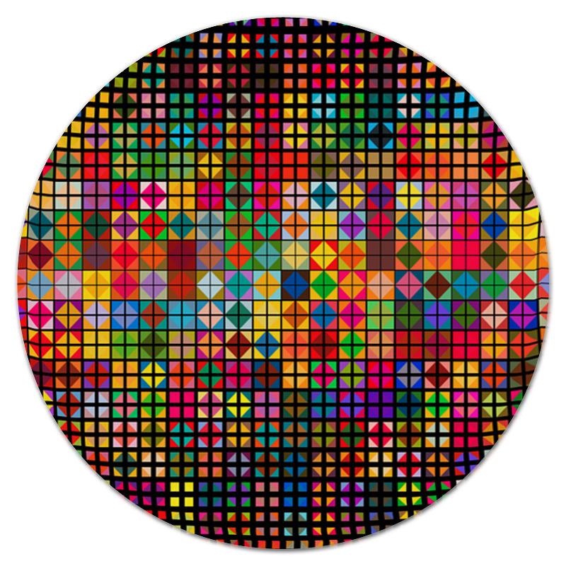 Коврик для мышки (круглый) Printio Яркая мозаика альбом для рисования 40л а4 эксмо серия яркая мозаика на склейке