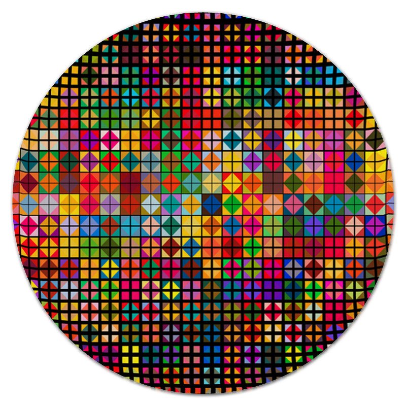 Фото - Printio Яркая мозаика коврик для мышки круглый printio мозаика