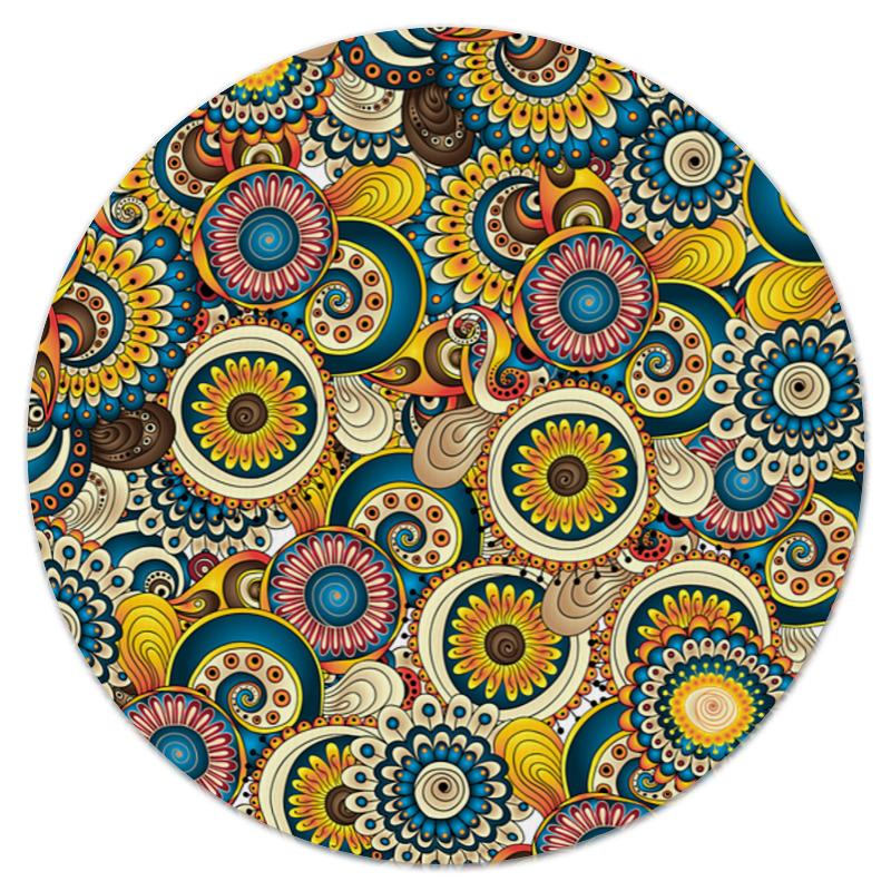Коврик для мышки (круглый) Printio красочные цветы коврик для мышки круглый printio цветы фэнтези
