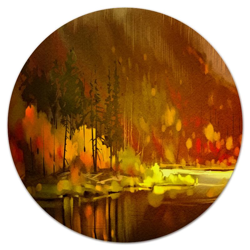 Коврик для мышки (круглый) Printio Осенний лес