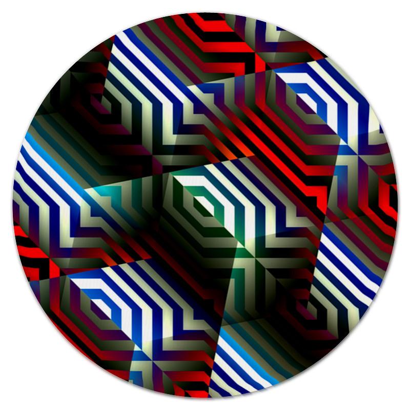 Коврик для мышки (круглый) Printio Цветной орнамент коврик для мышки круглый printio орнамент