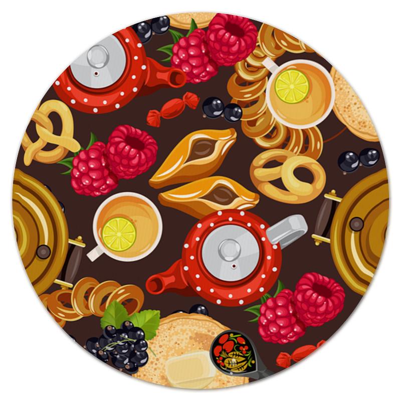 Коврик для мышки (круглый) Printio Чаепитие