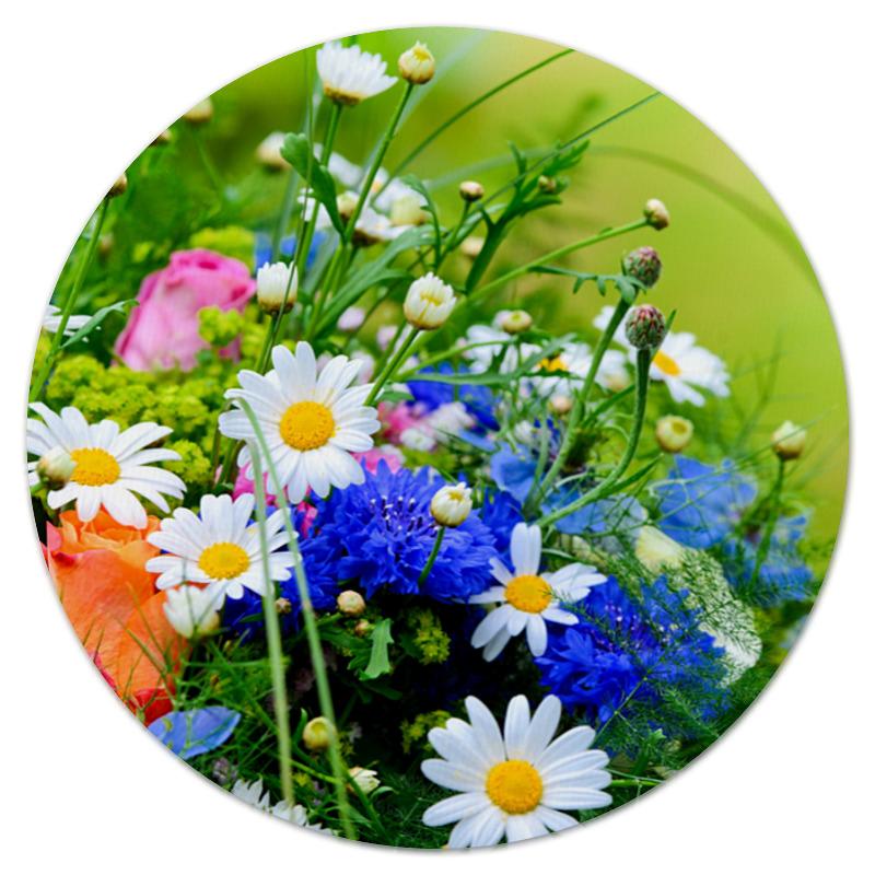 Коврик для мышки (круглый) Printio Цветы