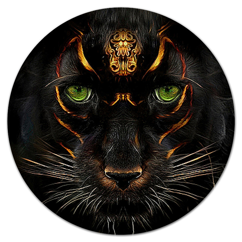 Коврик для мышки (круглый) Printio Кошки фэнтези кошки мышки 2019 03 14t19 00