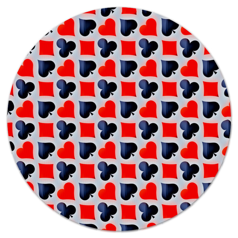Коврик для мышки (круглый) Printio Карты обучение карты