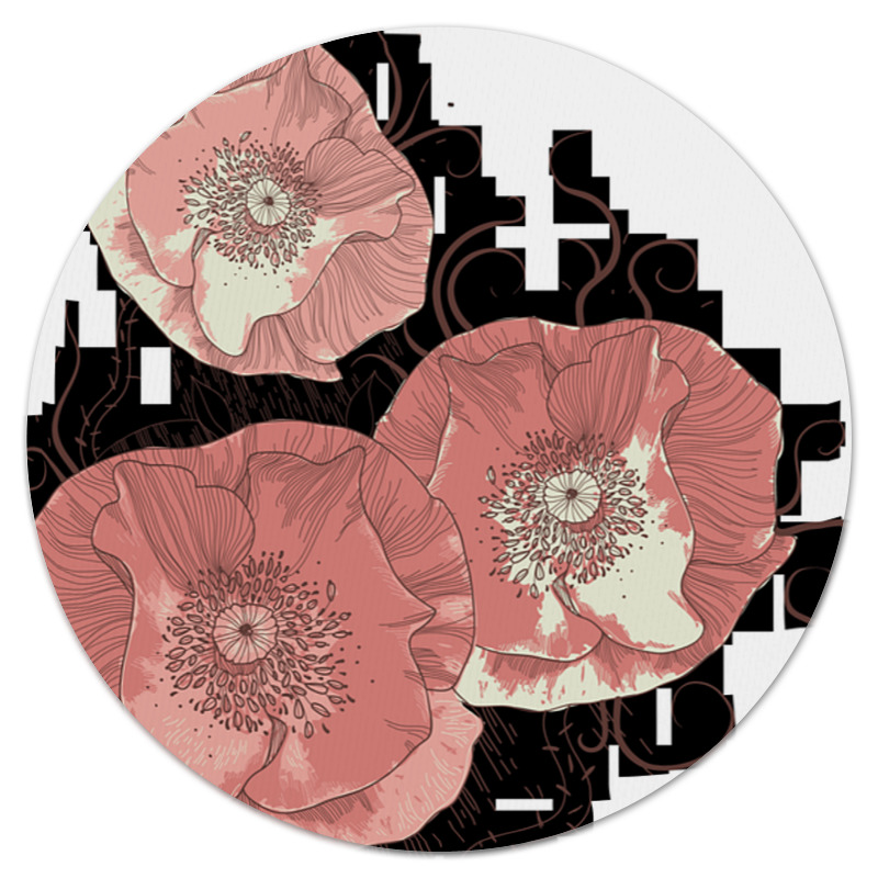 Коврик для мышки (круглый) Printio Цветение мака коврик для мышки printio цветы мака