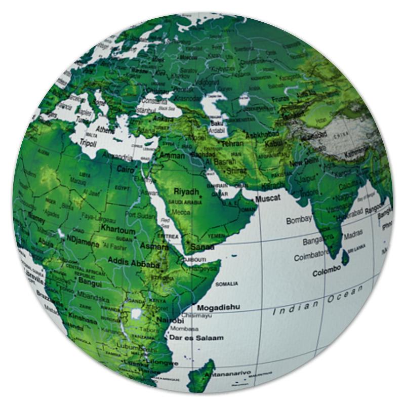 Коврик для мышки (круглый) Printio Планета земля самая одинокая планета