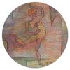 """Коврик для мышки (круглый) """"Танцовщица (Пауль Клее)"""" - картина, живопись, клее"""