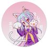 """Коврик для мышки (круглый) """"Широ. No Game No Life"""" - аниме, манга, no game no life, нет игры нет жизни, игра на выживание"""
