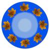 """Коврик для мышки (круглый) """"Кленовые листья"""" - листья, осень, клен, жёлтые листья"""