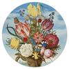 """Коврик для мышки (круглый) """"Букет цветов на полке (Амброзиус Босхарт)"""" - цветы, картина, живопись, натюрморт, босхарт"""
