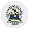"Коврик для мышки (круглый) ""Джеймс Дин James Dean"" - ретро, легенда, джеймс дин, james dean, rebel without a cause"