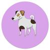 """Коврик для мышки (круглый) """"ДЖЕК РАССЕЛ.СОБАКА"""" - майкл джексон, щенок, собака, животное, рассел"""