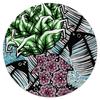 """Коврик для мышки (круглый) """"Дымные водоросли """" - цветы, море, листья, рисунок, графика, вода, рыбы"""