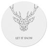 """Коврик для мышки (круглый) """"Dear Deer"""" - рисунок, дизайн, олень, минимализм, рога"""