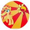 "Коврик для мышки (круглый) ""Sunset Shimmer Color Line"" - sun, cutiemark, sunset shimmer"