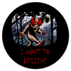 "Коврик для мышки (круглый) ""Клоун - i want to believe"" - хэллоуин, клоун, i want to believe, clown, оно"