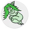 """Коврик для мышки (круглый) """"Дремлющая троллита"""" - девушка, тролль, графика, сладкий сон, мифические существа"""