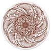 """Коврик для мышки (круглый) """"Цветок в стиле росписи хной"""" - цветы, мандала, этнический, индийский, мехенди"""