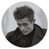"""Коврик для мышки (круглый) """"James Dean Джеймс Дин"""" - джеймс дин, james dean"""