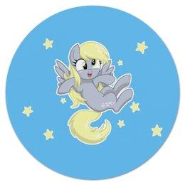 """Коврик для мышки (круглый) """"My little pony (Derpy)"""" - мультфильм, для детей, мой маленький пони, derpy, mlp"""