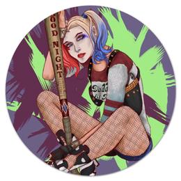 "Коврик для мышки (круглый) ""Harley Quinn"" - арт, девушка, марвел, бита, отрядсамоубийц"